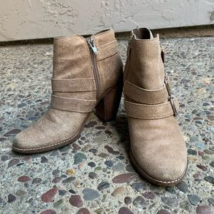 dolce vita tan booties with buckles